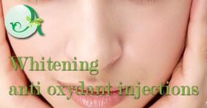 Whitening anti oxydant injections